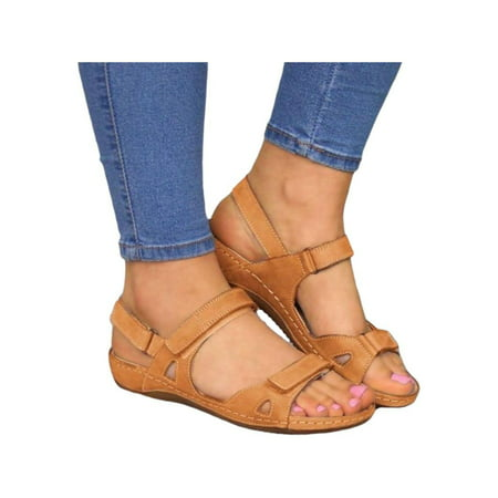 women's orthopedic open toe leather sandals pr emium