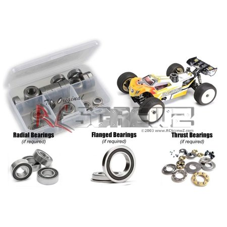 RC Screwz Rubber Shielded Bearing Kit for Agama Racing A8T Truggy (Racing Truggy Kit)
