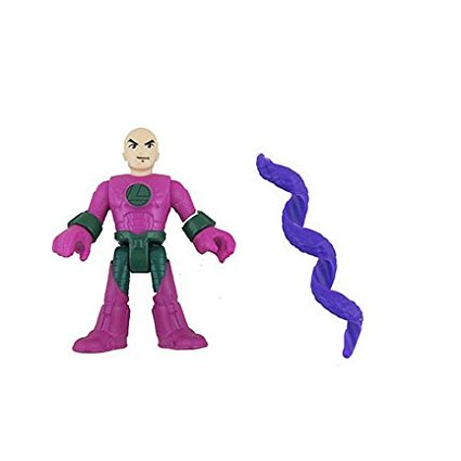 Fisher Price Imaginext DC Super Friends Hall of Doom Justice League (Model: CHH88), Replacement Lex Luther and Purple Snake Figures By