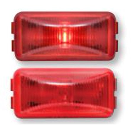 Optronics AL90RK Side Marker Light - LED FLEET Count (TM) Red Lens; 2-1/2 Inch Length x 1 Inch Height; LED; With A91BB Black Base And A91LW 1 Wire Plug - image 1 of 1