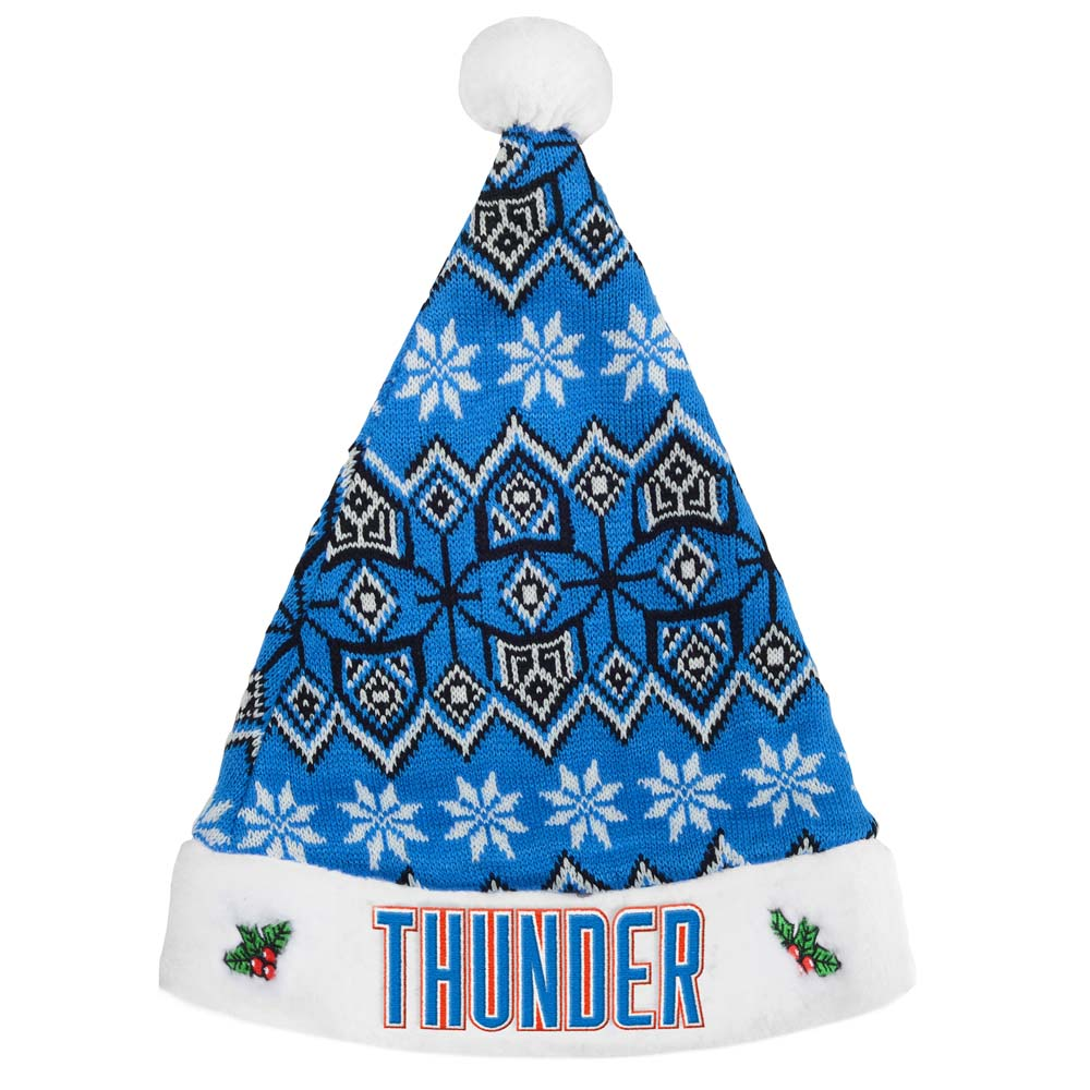 Oklahoma City Thunder Knit Santa Hat 2015 by Forever Collectibles