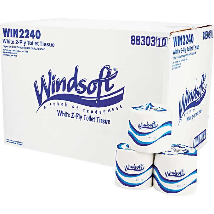 Windsoft Bath Tissue 2 Ply White 96ct Walmart Com
