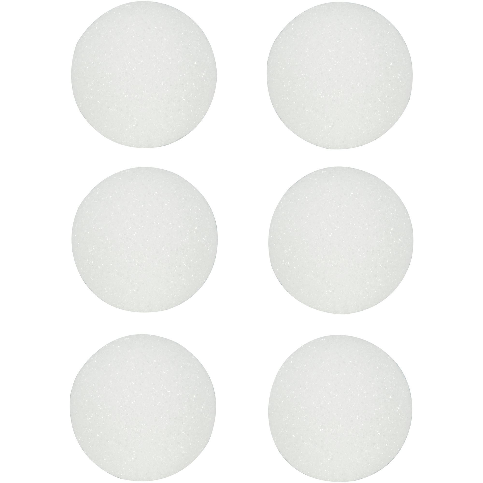 Make It Fun Styrofoam Ball 2.5in, 6pk, White