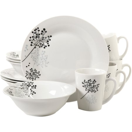 Gibson Home Netherwood 12 Piece Dinnerware Set, White - 9