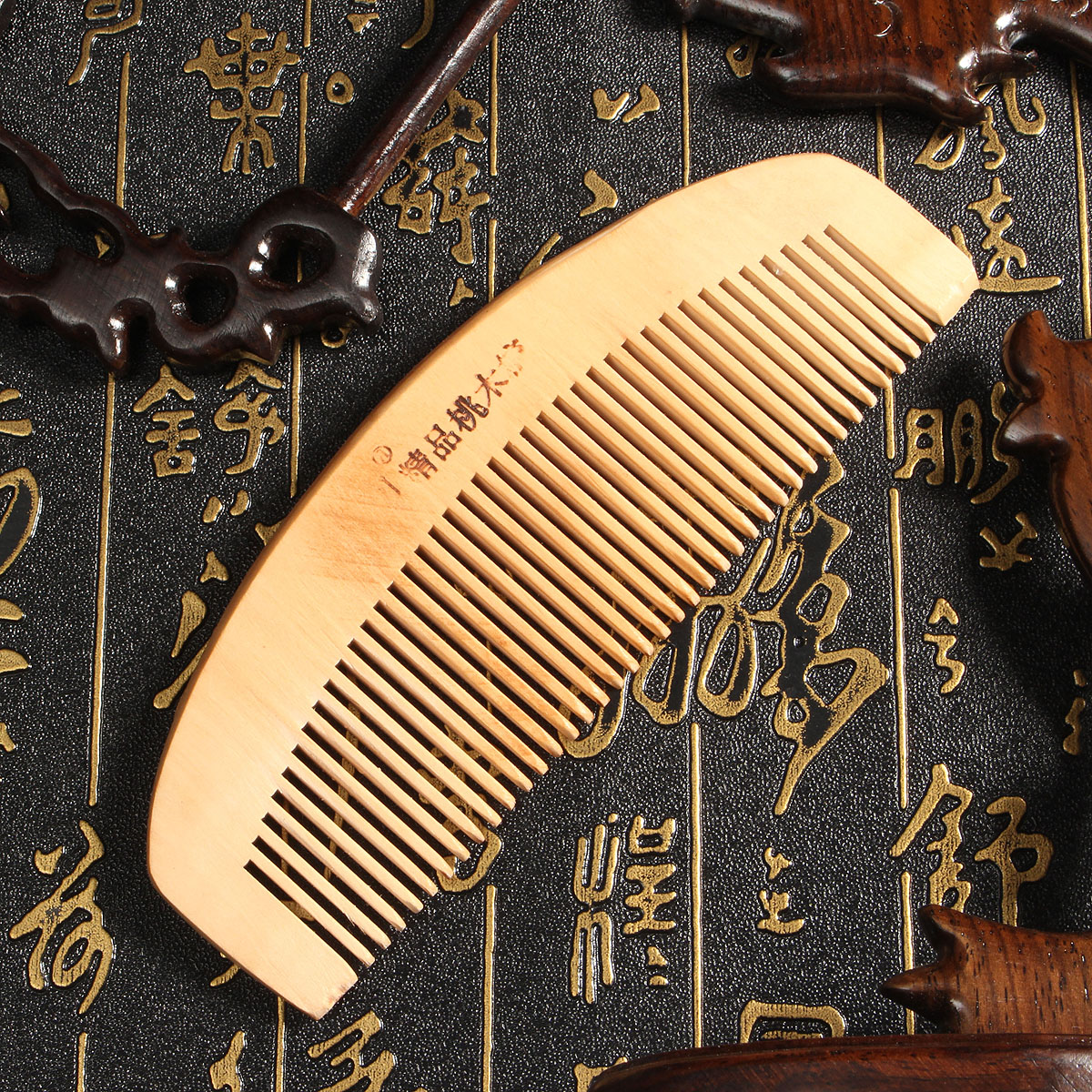 1PC Natural Sandalwood Wide Tooth Wooden Comb, Hair Care massage Comb