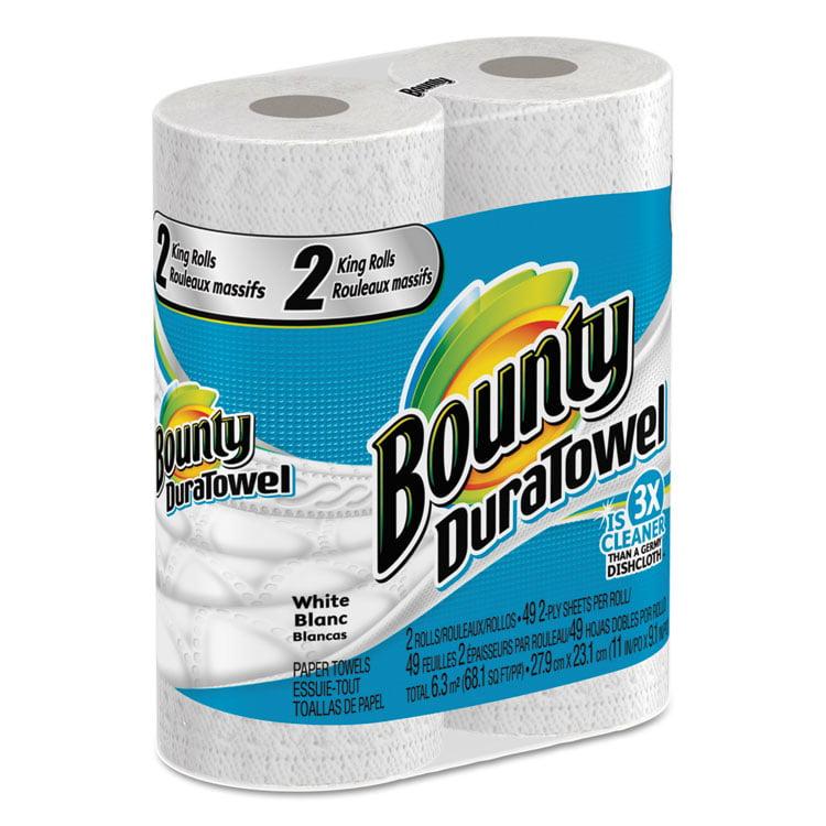 Bounty DuraTowel King Rolls Paper Towels, 24 Rolls of 49 sheets each