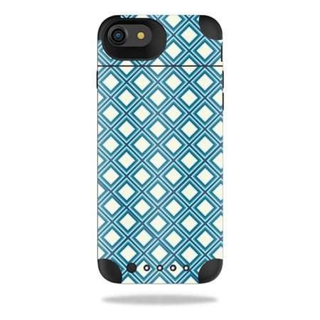 MightySkins Protective Vinyl Skin Decal for Mophie Juice Pack Air iPhone 7 Case wrap cover sticker skins Trip Squares