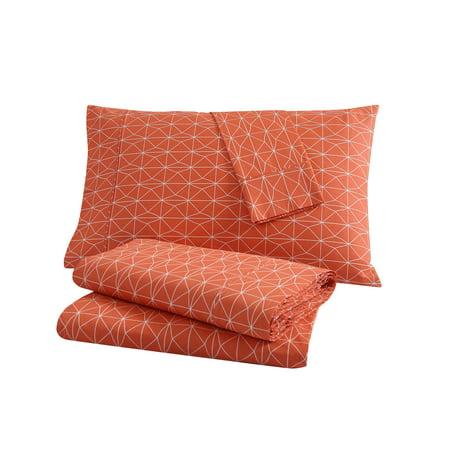 Clairebella Geometric 200 Thread Count 100 Cotton 3 4 Piece Bedding Sheet Set Walmart Com Walmart Com