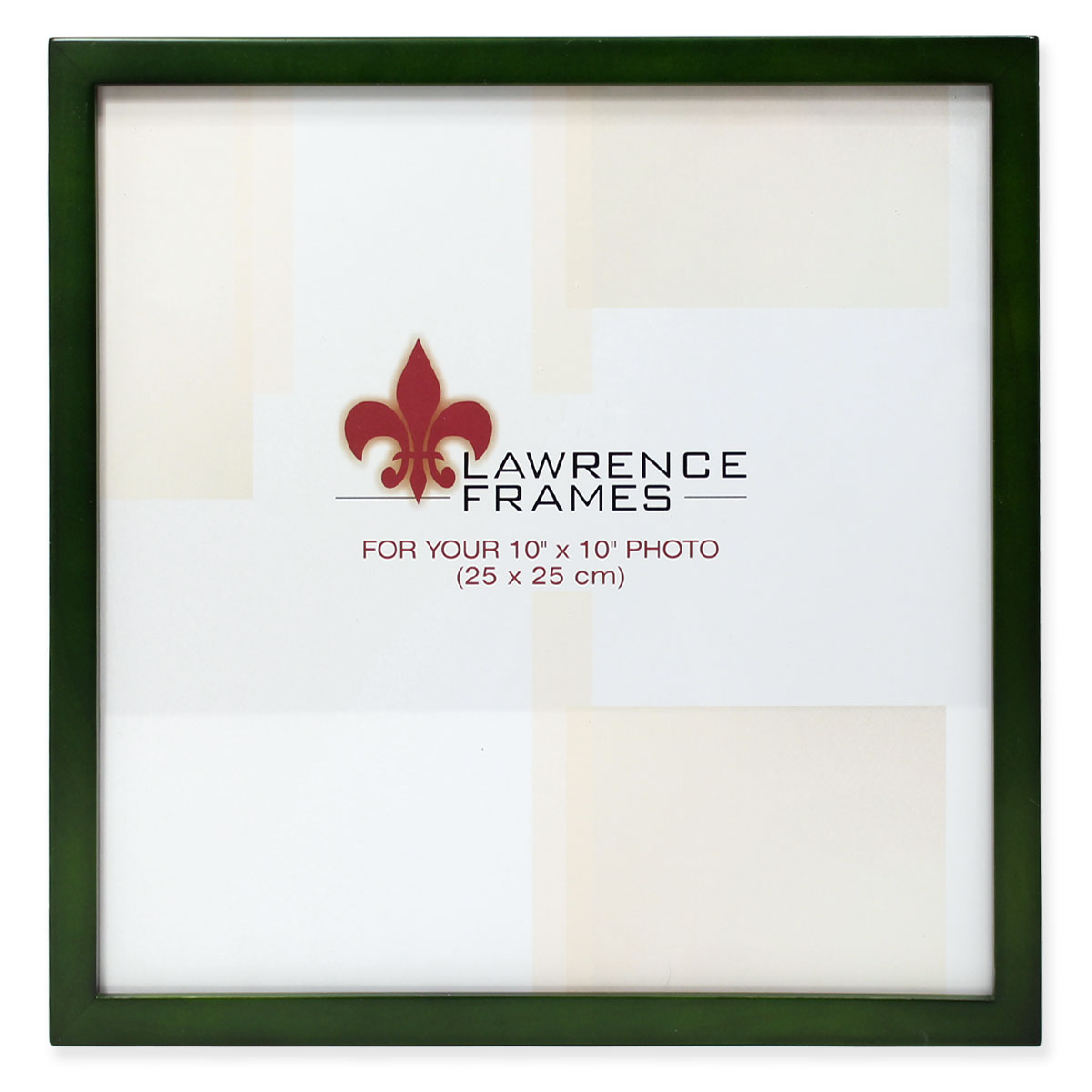 10x10 Green Wood Picture Frame Gallery Collection by Lawrence Frames