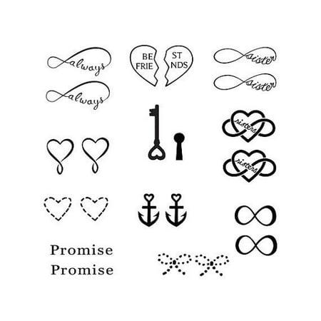 Tattify Punctuation Temporary Tattoo - Quota (Set of 2) - Walmart.com