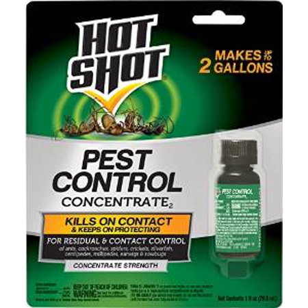 Hot Shot Pest Control Concentrate, 1-Ounce Multi-Colored