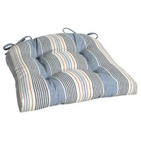 Better Homes & Gardens Hickory Stripe 18 x 20 in. Outdoor Wicker Chair Cushion with EnviroGuard