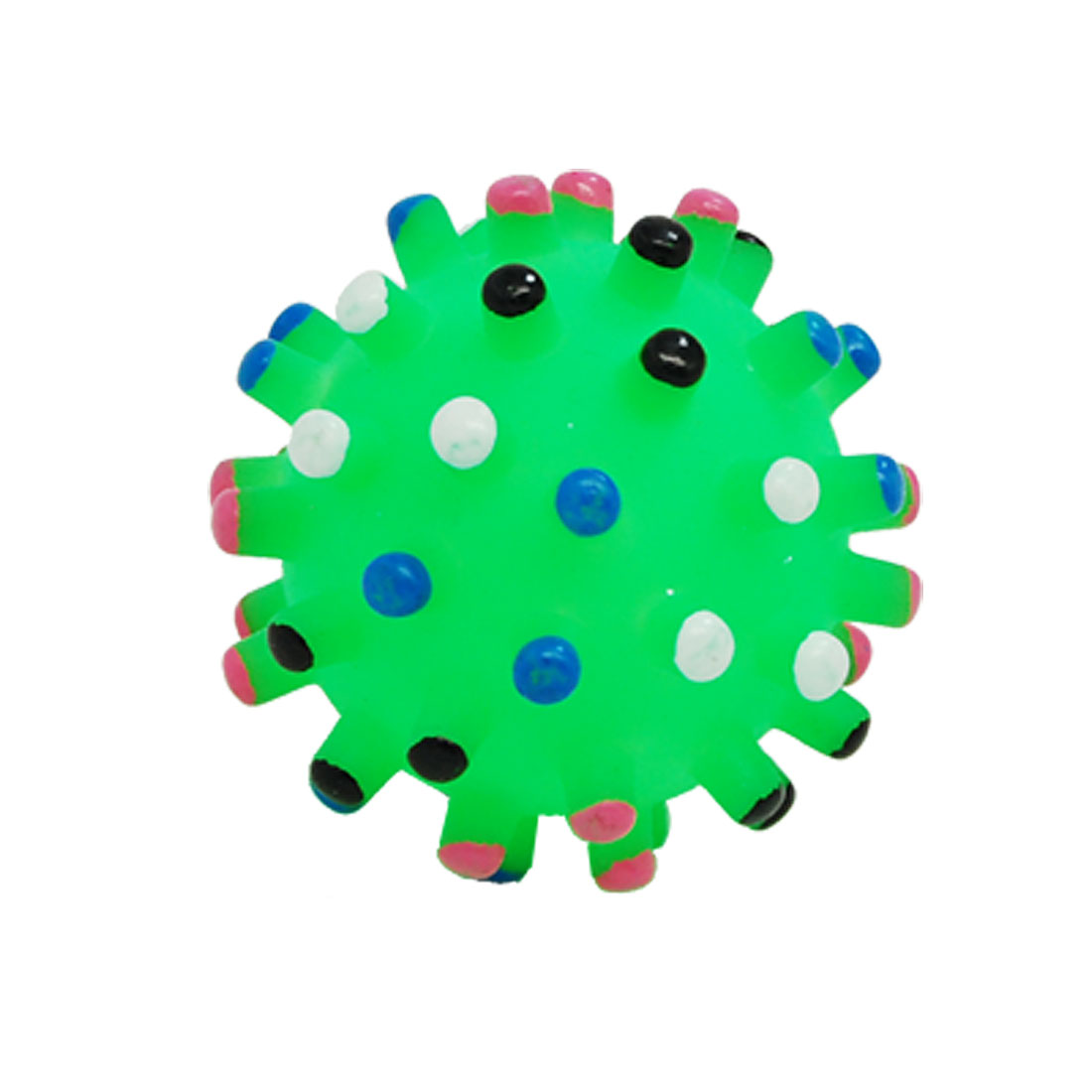 Small Chew Squeaky Plastic Ball Toy for Dog Pet Puppy Green