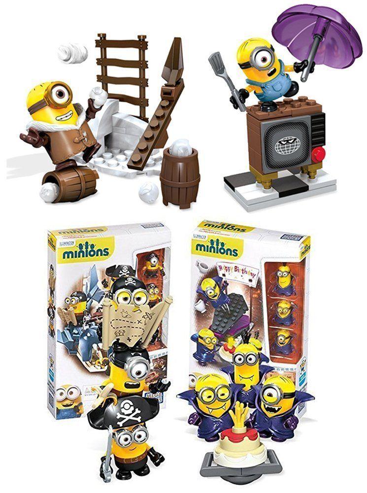 Mega Bloks Despicable Me Minions Figure Building Toy 204 Piece Super Playset Set [Vampire Surprise Pirates... by