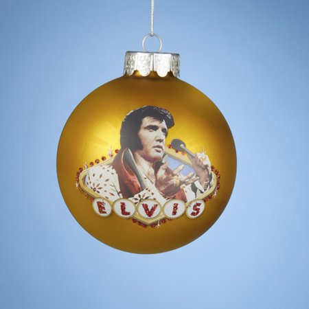 325 vegas gold elvis presley king of rock roll glass christmas ball
