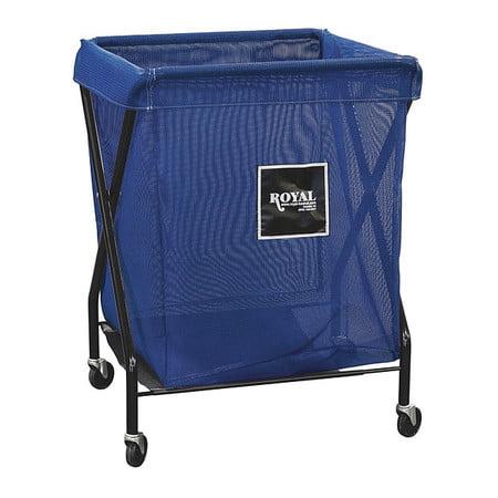 X-Frame Cart,8 Bu,Blue Mesh ROYAL BASKET TRUCK G08-BBX-XMA-3ONN