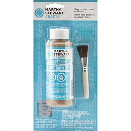 Martha Stewart Cream (martha stewart crafts glass etch cream with brush (5.96 -ounce), 33222 )