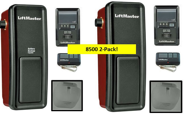 8500 2PACK LIFTMASTER ELITE SERIES WALL MOUNTED GARAGE DOOR OPENER