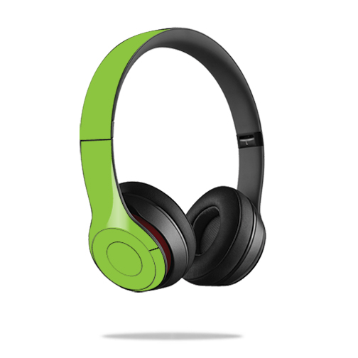 Mightyskins Protective Vinyl Skin Decal Cover for Dr. Dre Beats Solo2 Headphones wrap sticker skins Solid Green