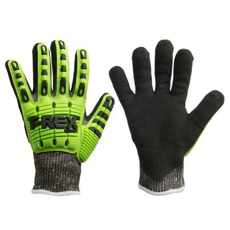 Magid T-REX Safety Work Gloves ANSI level A6 Cut Resistant Dexterity Grip TRX450 Elasticized Cuff - T Rex Gloves