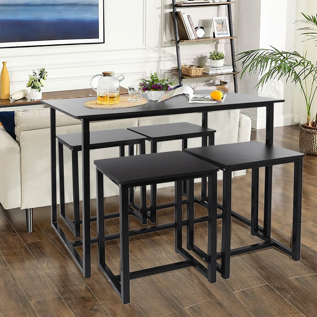 puyana 5 piece dining table set square kitchen table with
