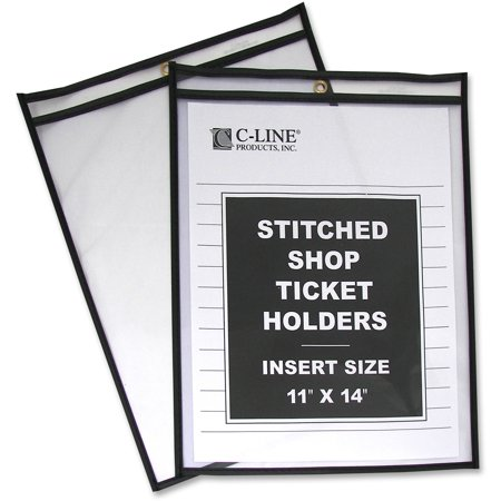 C-Line Shop Ticket Holders, Stitched, Both Sides Clear, 75