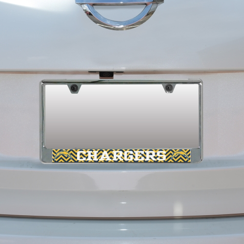 Los Angeles Chargers Chevron Bottom Only Metal Acrylic Cut License Plate Frame - No Size
