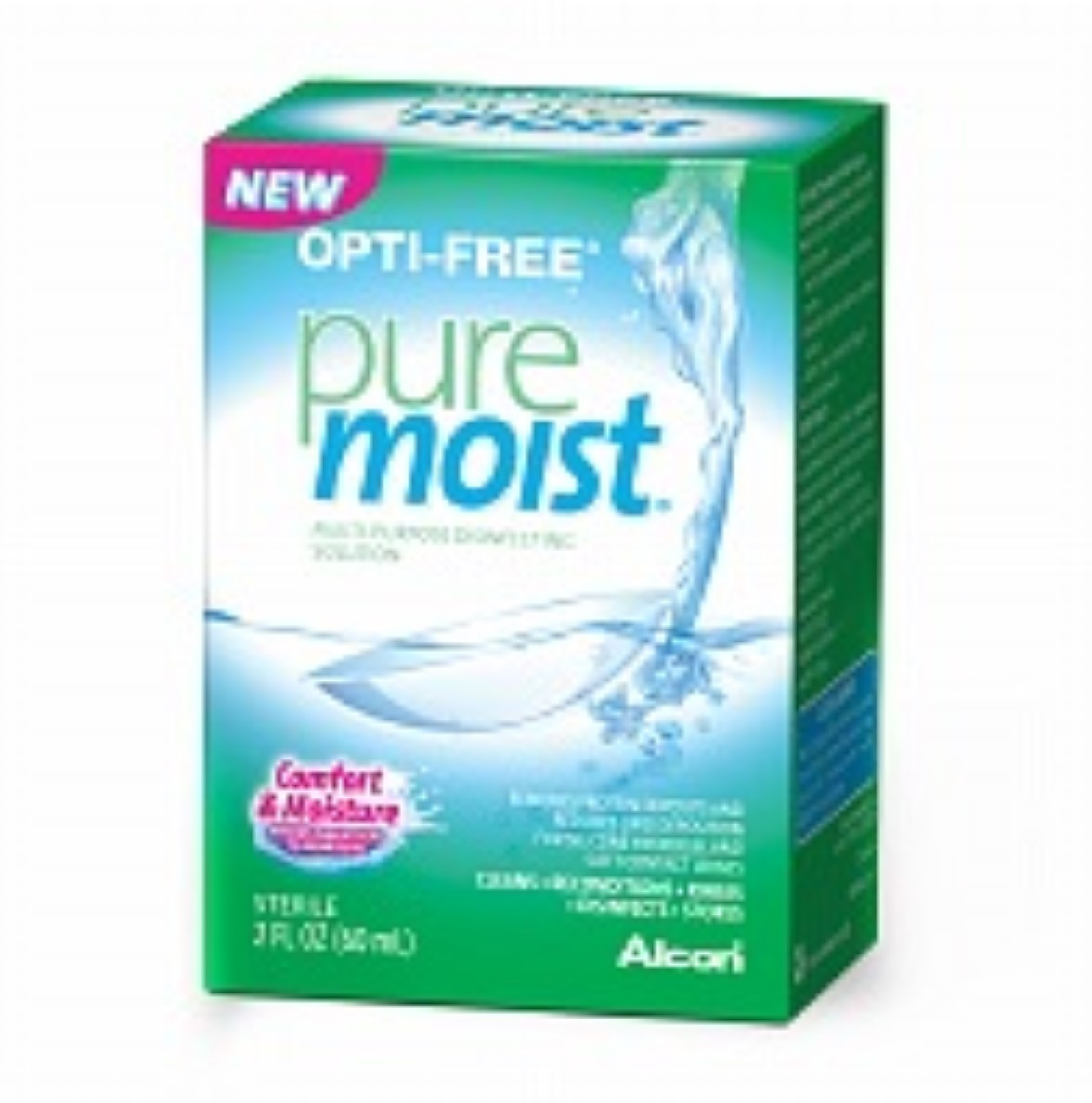 OPTI-FREE Pure Moist Multi-Purpose Disinfecting Solution 2 oz (Pack of 6)