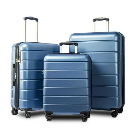 ARCTICSCORPION Luggage 3 Piece Set Suitcase, Spinner Hardshell Lightweight Expandable TSA Lock 4-Wheel Upright Luggage for 360 Degree Movement(20/24/28), Blue