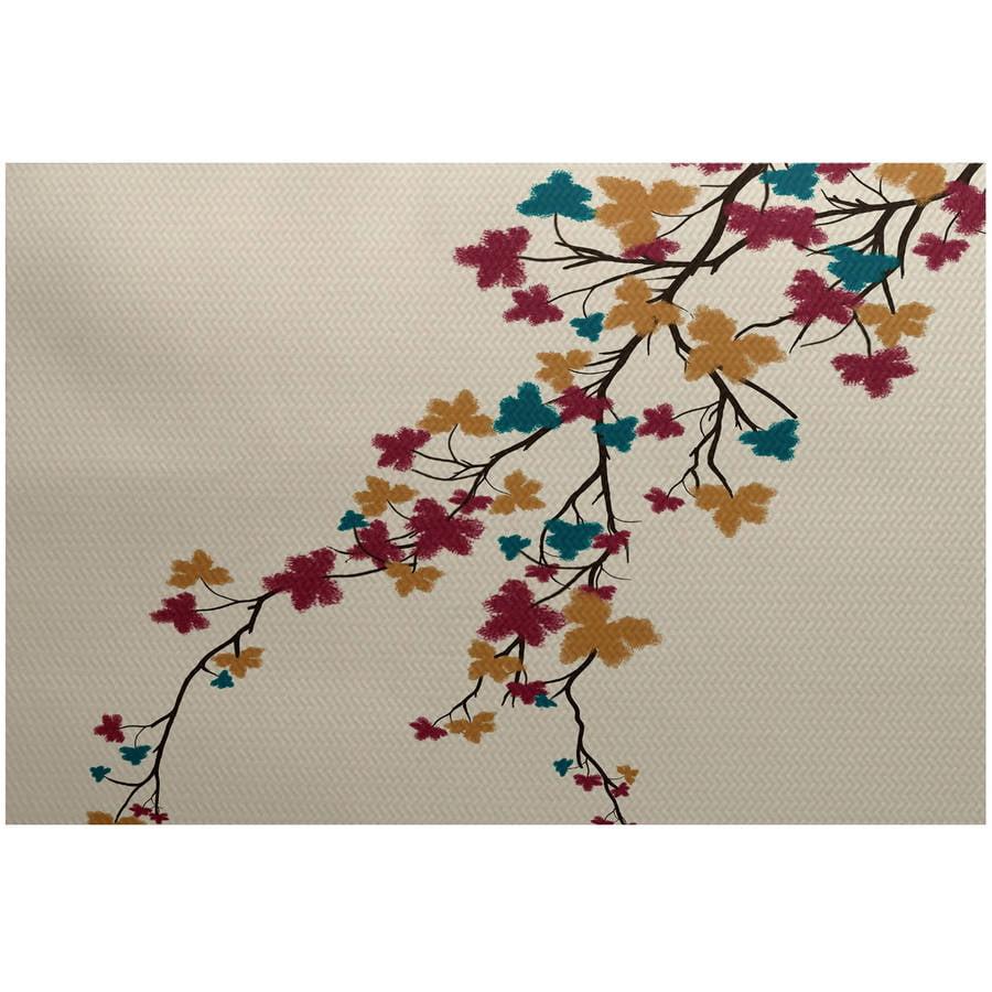 Simply Daisy 3' x 5' Maple Hues Flower Print Indoor Rug