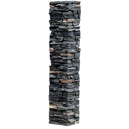 Eilat Stone (NextStone™ Faux Polyurethane Stone Post Cover Sleeve - Midnight Ash )