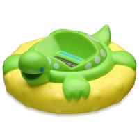 Aquatopia Safety Bath Digital Thermometer and Audible Alarm, Green Turtle