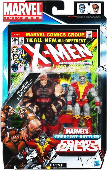Marvel X-Men Colossus & Juggernaut Comic Book #102 Figure Set 2-Pack by Hasbro Inc