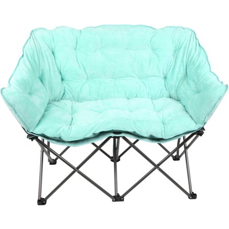 Pleasing Mainstays Plush Collapsible Loveseat Chair Available In Creativecarmelina Interior Chair Design Creativecarmelinacom