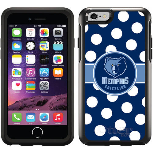 Memphis Grizzlies Polka Dots Design on OtterBox Symmetry Series Case for Apple iPhone 6