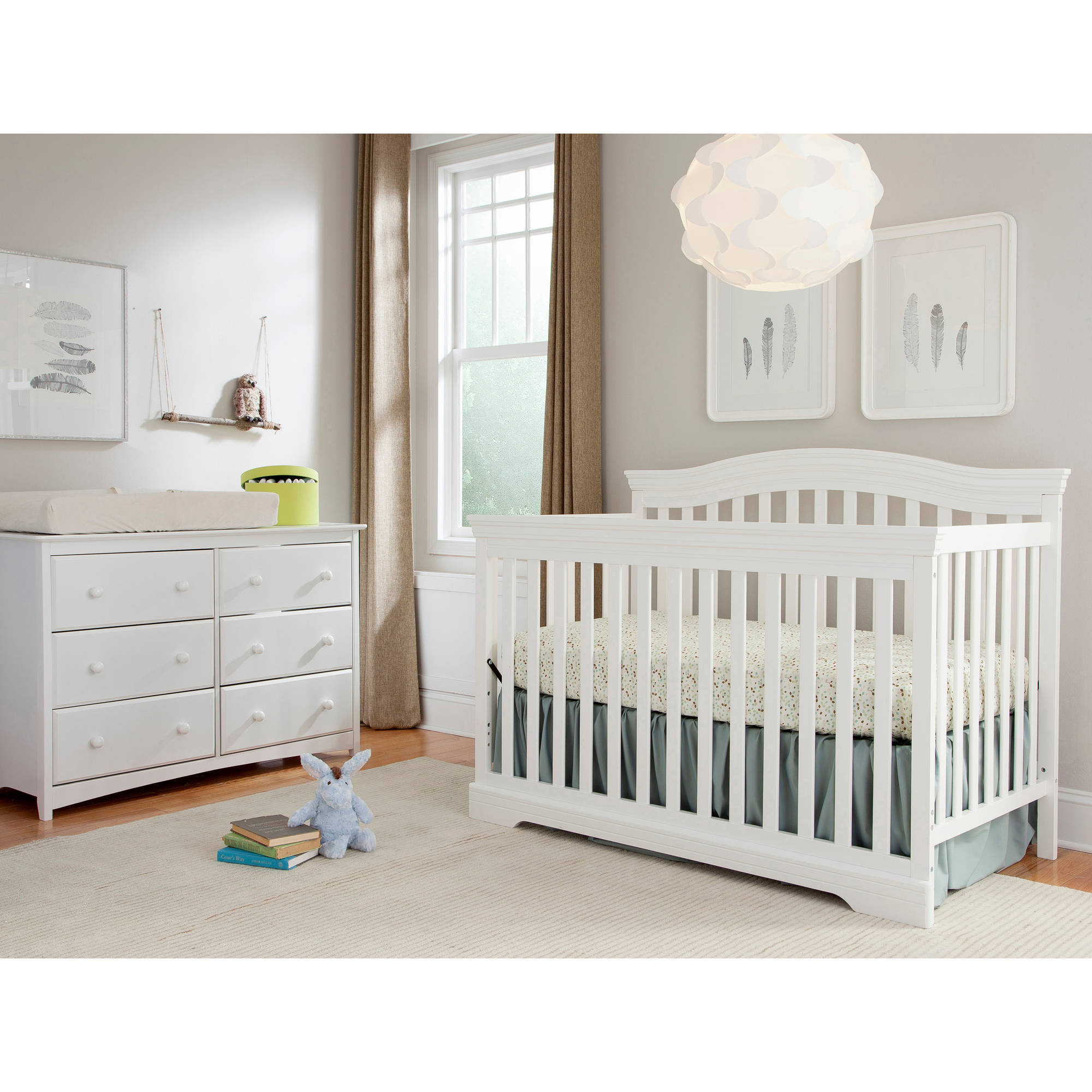 broyhill kids bowen heights 4in1 convertible crib white walmartcom