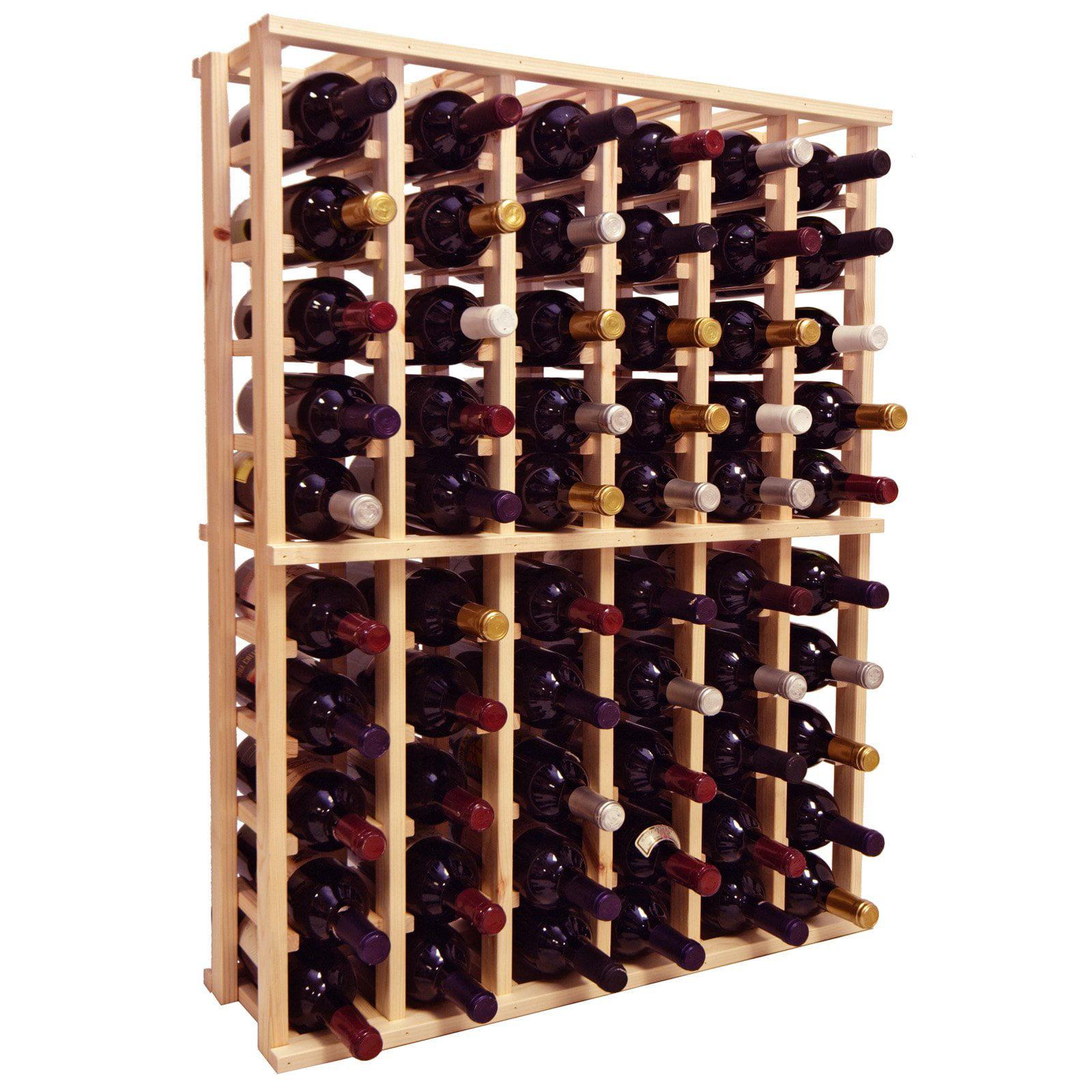 Country Pine Series 66-Bottle 6-Column Half Height Wine Rack