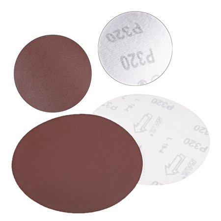 10Pc 6Po crochet boucle Disque pon age 320 Grain Papier verre Marron - image 1 de 4