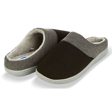 Floopi Slippers for Women's Memory Foam Deluxe Clog Scuff/Mule House Slip-Ons for Indoor & Outdoor Use| Warm & Fuzzy w/Quilted Jacquard Terry Lining, Knit Collar Slipper & Anti-Skid Hard Sole (Slipper Memory Foam Women)