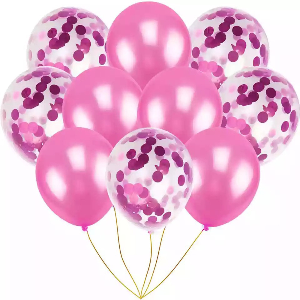 DZT1968 12'' Confetti Balloons 10x/set Latex Wedding Party Baby Shower Birthday Decor