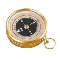 Portable Pocket Outdoor Aluminum Alloy Camping Compass Handheld Compass For Presents Gift Gold Hiking Climbing Survival Tools