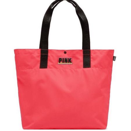 Victoria Secret Pink Logo Tote Beach Bag Coral Orange ()