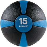 Gofit Gf-Mb15 Medicine Ball, 15 Lbs, Black And Blue