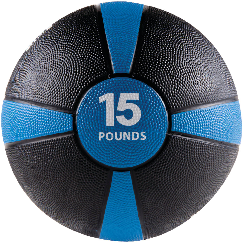 GoFit Gf-Mb15 Medicine Ball, 15 Lbs, Black And Blue