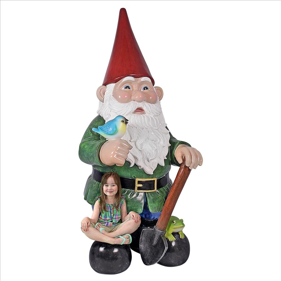 Gottfried the Giant's Bigger Brother Garden Gnome Statue by Design Toscano