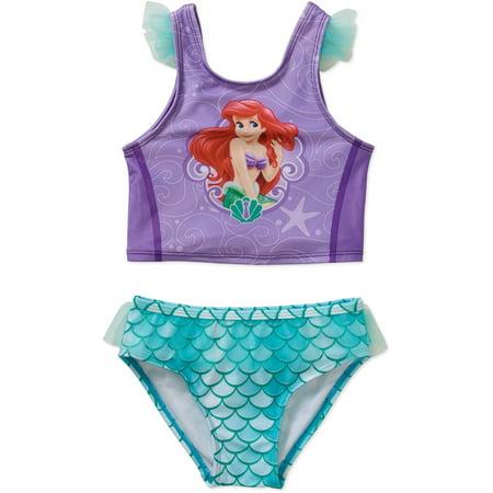 22f996d988197 Little Mermaid - Disney Little Mermaid Ariel Toddler Girl Tankini Ruffled  Swimsuit - Walmart.com