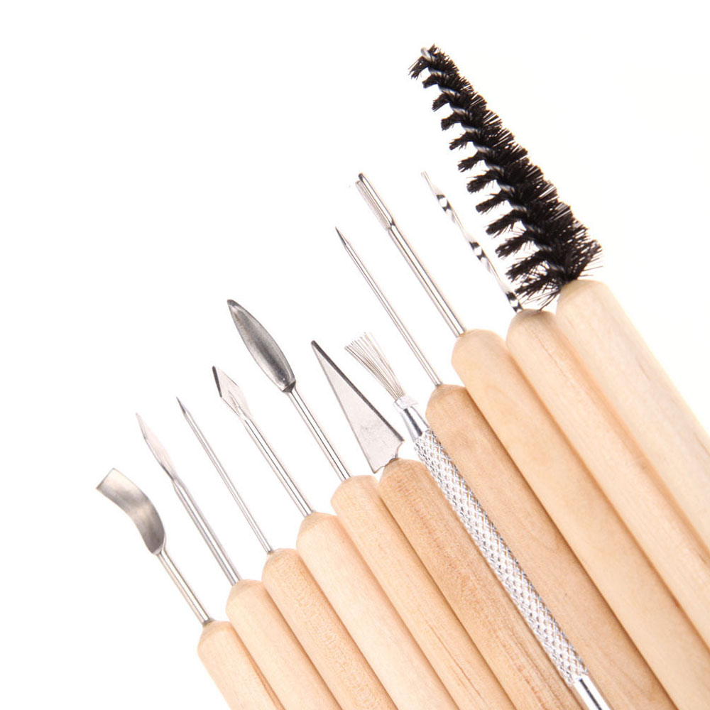 11 Pc Pottery Tool Set Clay Sculpting Carving Ceramics Molding Shapers Tools Kit