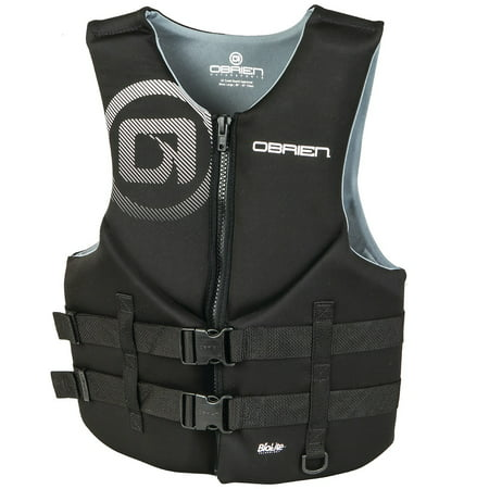 Black Chest Life Vest (O'Brien Men's Traditional Neo Life Vest (Black)-M (36