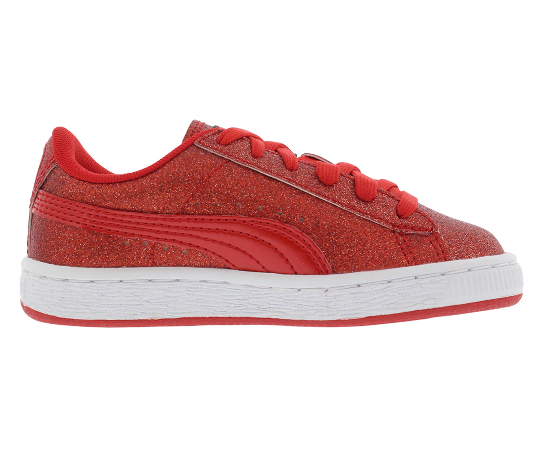Puma Basket Holiday Glitz Ps Casual Kid's Shoes Size