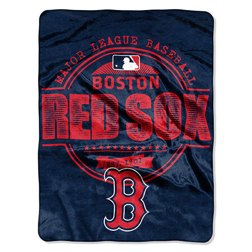 "Boston Red Sox The Northwest Company 46"" x 60"" Structure Micro Raschel Plush Blanket - No Size"
